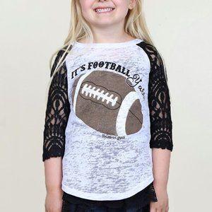It's Football Yall lace sleeve raglan